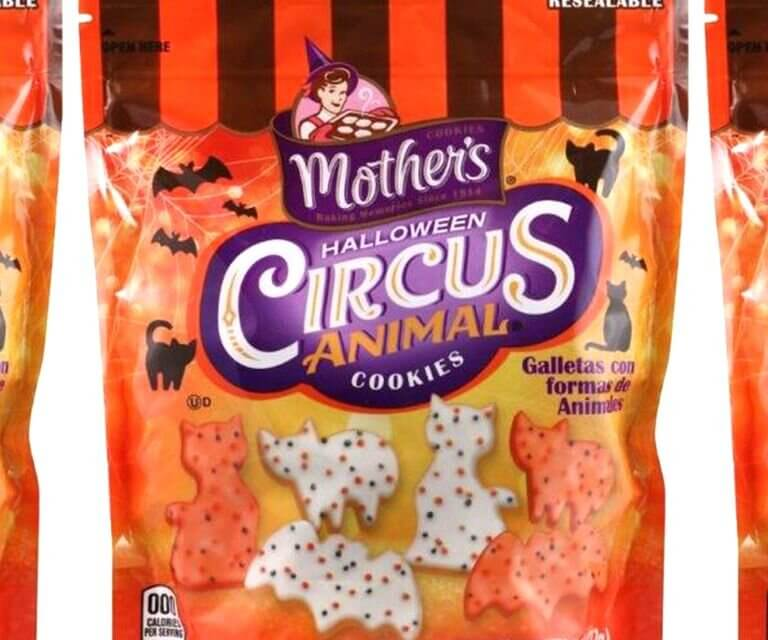 Mother's Circus Animal Cookies Now Come In A Halloween Variety With Cats And Bats