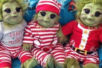 These Baby Grinch Dolls Will Make A Great Addition To Your Christmas Decor
