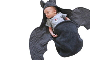 This Baby Bat Swaddling Blanket Is Simultaneously Creepy And Cute