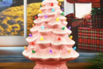 Target Is Selling Pink Ceramic Christmas Trees For An Adorably Retro Holiday