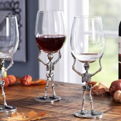 Pottery Barn Is Selling Skeleton Wine Glasses For Halloween And They're Super Spooky
