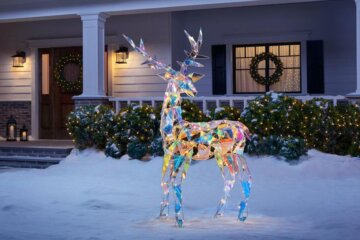 This 6-Foot Iridescent Reindeer Will Bring Glitz And Glam To Your Christmas