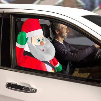 These Inflatable Car Buddies Will Keep You Company While You're Stuck In Traffic This Holiday Season