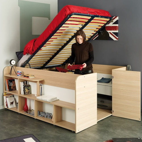 This Bed Has A Huge Built-In Closet For All Your Storage Needs
