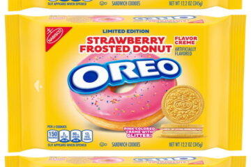 Oreo Has A New Strawberry Frosted Donut Flavor With Glittery Pink Creme In The Center