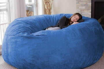 This Gigantic 8-Foot Bean Bag Chair Is The Ultimate Comfortable Lounging Experience
