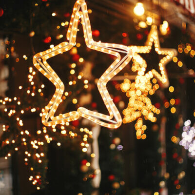 Town Turns Christmas Lights Back On In February To Cheer Residents Up