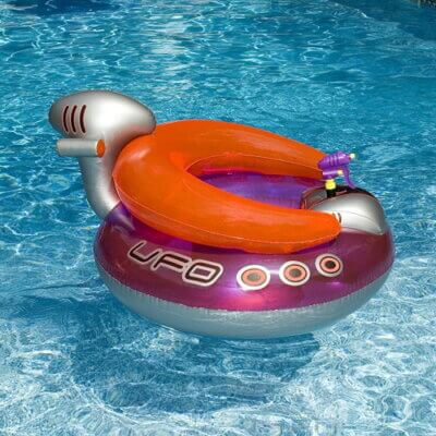 This Inflatable Pool Float Has A Water Gun Attached For Ultimate Summer Fun