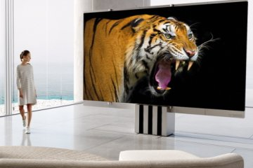 This 165-Inch MicroLED TV Has A Screen That Folds And Is Stored In The Floor Of Your House