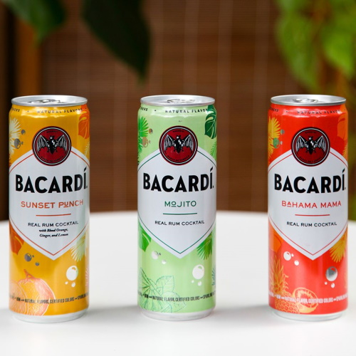 Bacardi's Delicious New Canned Cocktails Come In Mojito, Sunset Punch, And Bahama Mama Flavors