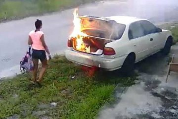 Woman Sets Fire To Car She Thought Belonged To Her Ex-Boyfriend — It Didn't