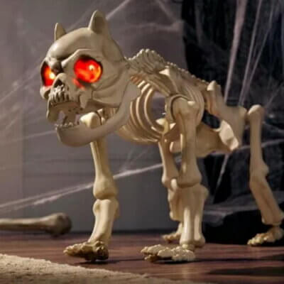 This Animated Skeleton Dog Will Scare Off Any Unwelcome Guests This Halloween