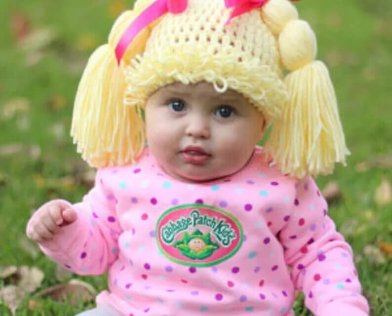 These Crochet Cabbage Patch Kid Hats Will Take You Back To The '80s In The Best Way