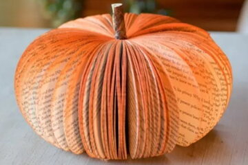 Book Pumpkins Are The Adorable Accessory Trend Your House Needs This Fall
